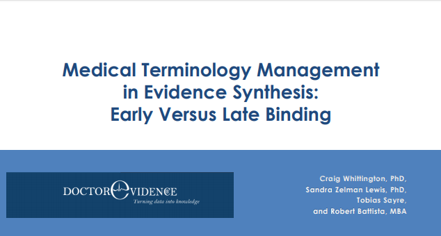 Medical Terminology Management in Evidence Synthesis